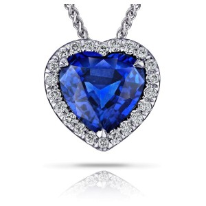 David Gross  18K White Gold  Sapphire Necklace