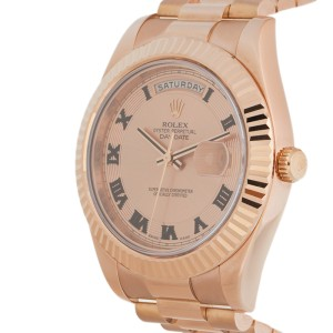 Rolex Day-Date II President 218235 CHCRP Rose Gold 41mm Watch