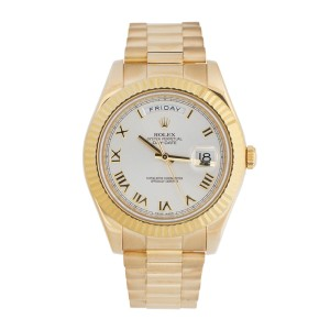Rolex Oyster Perpetual Day-Date II 218238 ICAP 18k Yellow Gold 41mm Watch