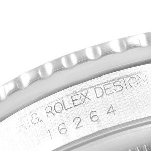 Rolex Turnograph Datejust Steel White Gold Diamond Mens Watch 16264