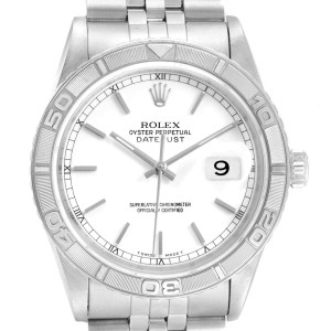 Rolex Turnograph Datejust Steel White Gold Jubilee Bracelet Watch 16264