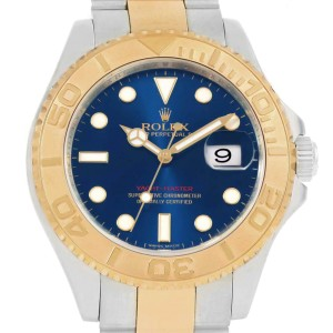 Rolex Yachtmaster 40mm Steel Yellow Gold Blue Dial Mens Watch 16623