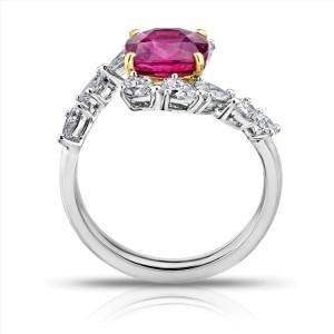 David Gross  Platinum  Ruby Ring