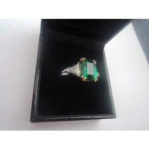 3.24ct. Emerald and Diamond Ring
