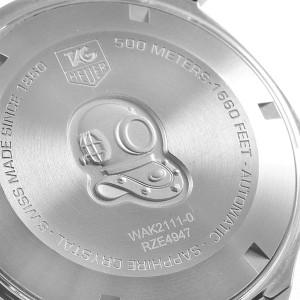 Tag Heuer Aquaracer Calibre 5 500M Steel Mens Watch WAK2111 Box Card