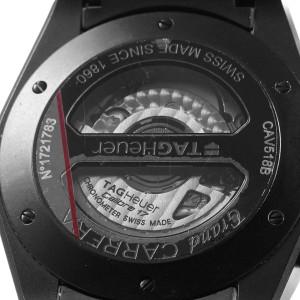 Tag Heuer Grand Carrera Black PVD Mens Watch CAV518B Box Card