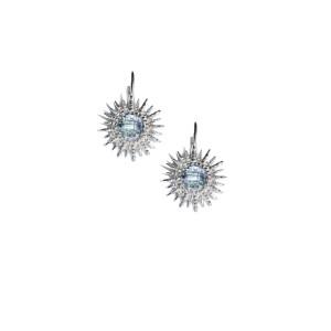Anzie Sterling Silver Blue Topaz Earrings
