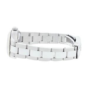 Rolex Datejust Oyster 179174 Stainless Steel 18K Gold Bezel  Blue Stick Dial Womens Watch