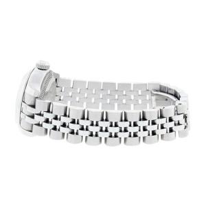 Rolex Datejust 179160 Stainless Steel Black Sunburst Roman Dial Womens Watch