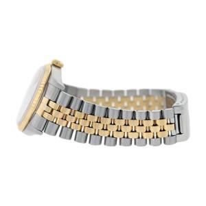 Rolex Datejust 16233 Stainless Steel & 18K Gold  Bezel White Stick Dial Mens Watch