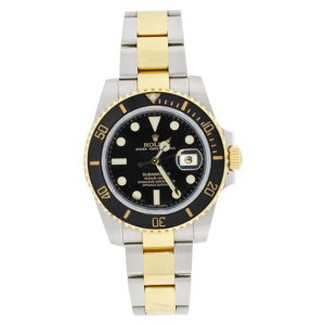 Rolex Submariner 116613 Stainless Steel & 18K Gold Black Dial Mens Watch