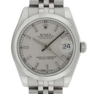 Rolex Midsize Datejust 178240 Jubilee Stainless Steel Silver Stick Dial 31mm Watch