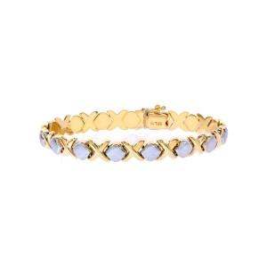 14K Two Tone Gold Bracelet