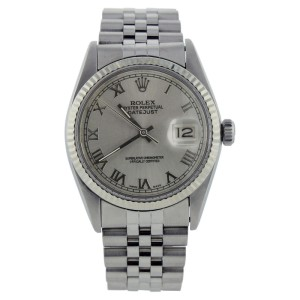 Rolex Datejust 16014 Stainless Steel Silver Roman Dial Mens Watch