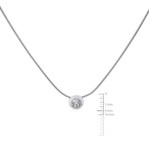 14K White Gold 0.45ct Diamond Pendant Necklace