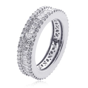18K White Gold Diamond Eternity Wedding
