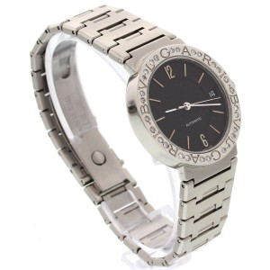 Bulgari Stainless Steel Automatic Diamonds Mens Watch
