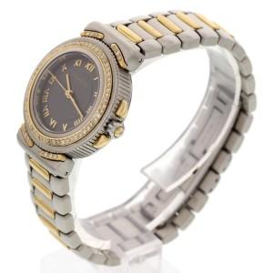 Tiffany & Co. L0822 18K Yellow Gold & Stainless Steel Diamonds Womens Watch