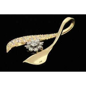 White White Gold Diamond Mens Pendant