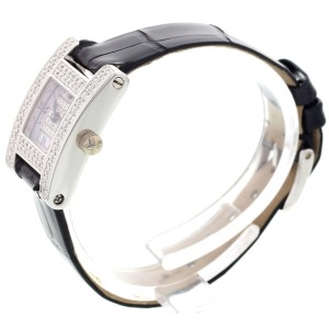 Chopard 493 1 A Ladys Fine 18K White Gold Diamond Womens Watch