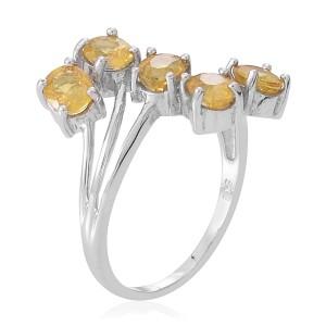 Yellow Sapphire 5 Stone Ring Size 9