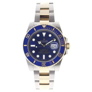 Rolex Submariner 116613 Stainless Steel 18k Gold Blue Dial Ceramic Bezel Automatic 40mm Mens Watch