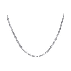 10K White Gold Hollow Franco Link Necklace Chain