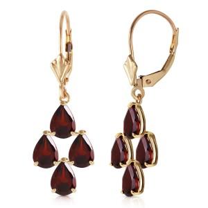4.5 CTW 14K Solid Gold First Love Garnet Earrings