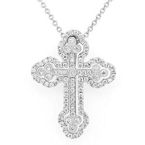 Simon G. LP4075-S 18k White Gold Diamond Necklace