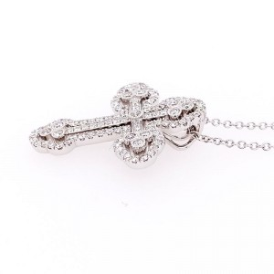 Simon G. LP4075-S 18k White Gold Diamond Necklace