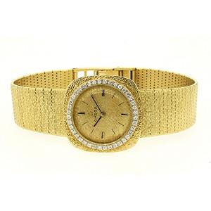 Omega 18K Yellow Gold wDiamond Manual Vintage 29mm Unisex Watch
