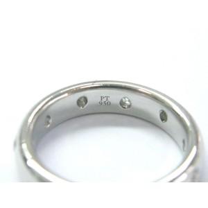Tiffany & Co Etoile Platinum 0.22ctw Diamond Eternity Wedding Ring Band Size 7.25