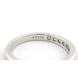 Tiffany & Co. 950 Platinum with 0.33ctw Diamond Eternity Wedding Band Ring Size 5.5