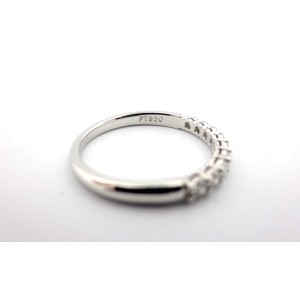 Tiffany & Co. Platinum with 0.27ct. Diamond Eternity Band Ring Size 7.5