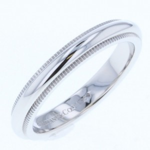 Tiffany & Co. Milgrain PT950 Platinum Wedding Ring Size 4.25