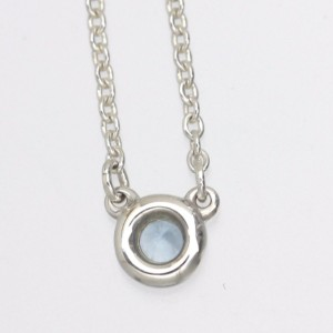 Tiffany & Co. 925 Sterling Silver with Aquamarine By The Yard Necklace
