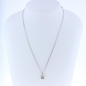 Chopard 18K White Gold and Diamond Heart Pendant Necklace