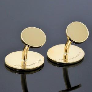 Tiffany & Co. Yellow Gold Diamond Cufflinks