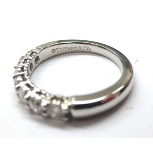 Tiffany & Co. Platinum with 0.56ctw. Diamond Wedding Band Ring Size 5.5