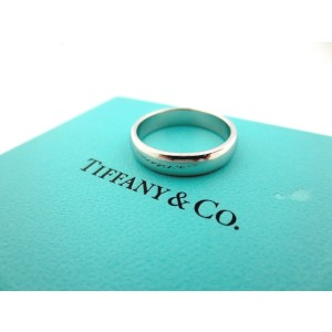 Tiffany & Co. Lucida Platinum Wedding Band Ring Size 5.5