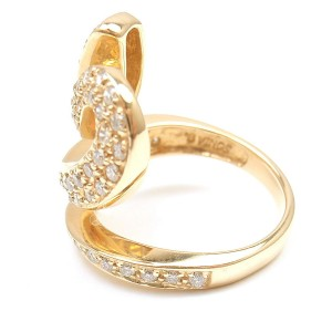 Sonia B. 14K Yellow Gold with 1.25ctw Diamond Snake Wave Ring Size 7.25