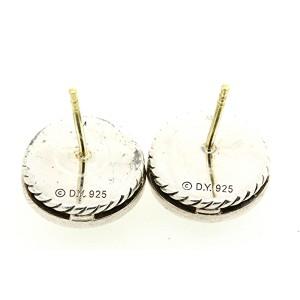 David Yurman Cerise 925 Sterling Silver Prasiolite & 0.42ctw Diamond Stud Earrings