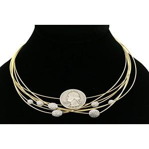 Marco Bicego Goa 8K White Gold Diamond Necklace