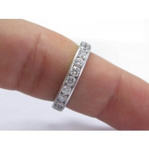 Tiffany & Co. Platinum Diamond Wedding Ring Size 7