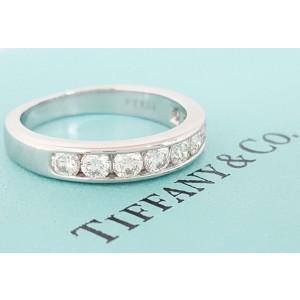 Tiffany & Co. Platinum Diamond Wedding Ring Size 8