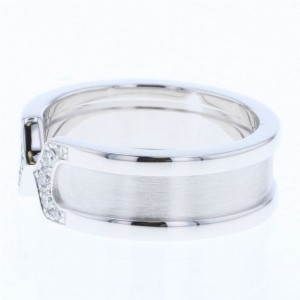 Cartier C2 Ring 18K White Gold with Diamond Size 4.75