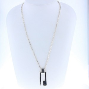 Gucci G Sterling Silver Pendant Necklace