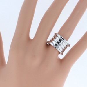 Bulgari B.Zero 1 18K White Gold Ring Size 5.75