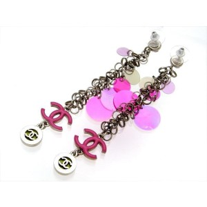 Chanel CC Pink Earrings