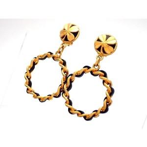 Chanel Gold Tone Vintage Earrings